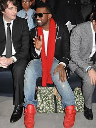 kanye west red shoes