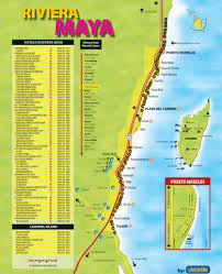 map hotels riviera maya