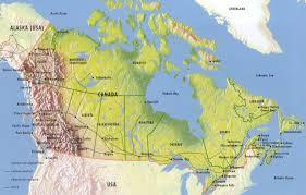 carte geographique canada