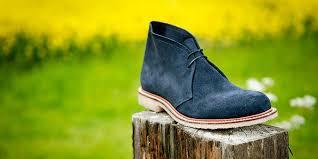 blue desert boots