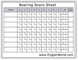 bowling scoring sheet