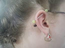industrial barbell earring