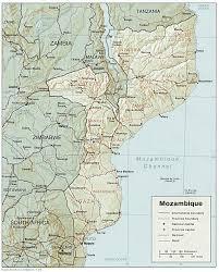 map mozambique