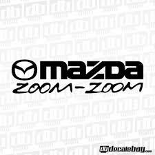 mazda zoom zoom stickers