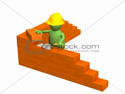 building with brick