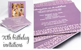 70th party invitations