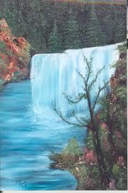 water fall art