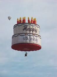 birthday cake and balloon