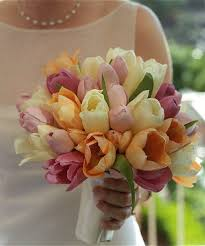 bridal bouquets tulips