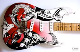 custom guitar paint designs