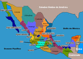 mapa dela republica mexicana