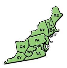 north east region map