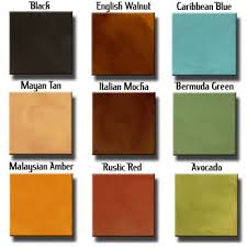 stain color chart