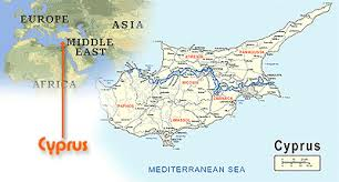 cyprus on world map