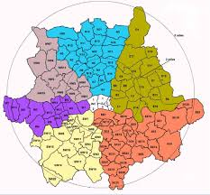 postcode map of greater london