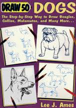 how to draw 50 dogs