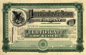 sample of stock certificate