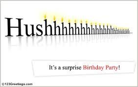 surprise birthday invite