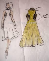 drawing of dress
