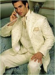 men cream suits