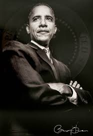 black and white picture of barack obama