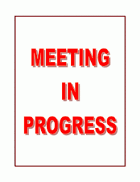 meeting signage