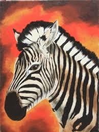 paintings of zebras