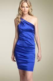 nicole miller one shoulder dress
