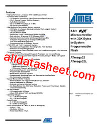 atmega32 data sheet