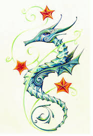 sea horse tattoos