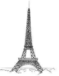 eiffel tower line drawing