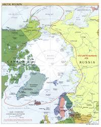 map of the arctic ocean
