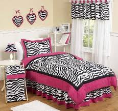 black pink and white bedding