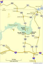 grand canyon south rim maps