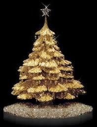 gold xmas trees