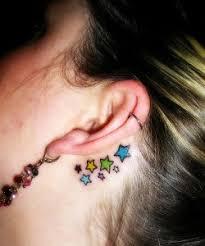 colorful stars tattoo