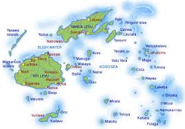 map of fiji island