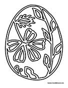 easter egg hunt coloring pages
