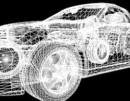 3d wireframe model
