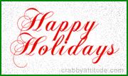 happy holidays animations