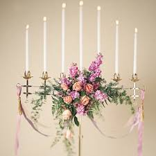 flower arrangements with candles