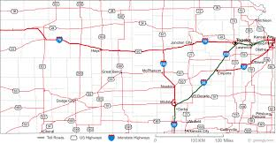 kansas road map