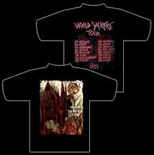 slayer tour shirts