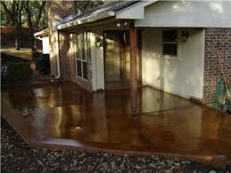patio concrete stain