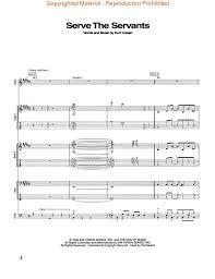 nirvana sheet music