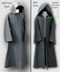 hooded black robe