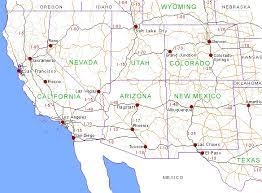 arizona california map