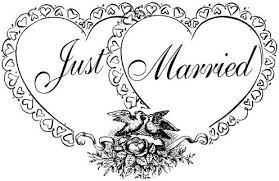 just married picture
