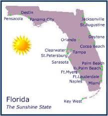 florida beaches map