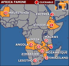 famines in africa